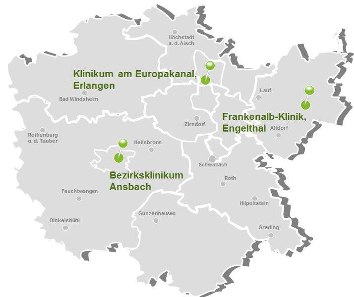 Mittelfranken Karte.Bezirkskliniken Mittelfranken Service Gmbh